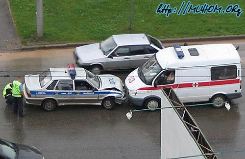 Авария: Милиция и Скорая