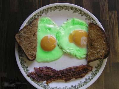 зелёная яичница
