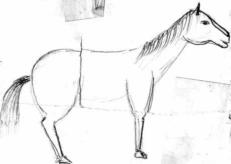 лошадки рисунок