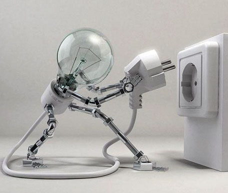 Лампочка и розетка