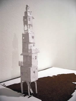 замки вырезанные из бумаги