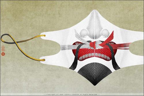 Дизайнерские марлевые повязки с рисунком