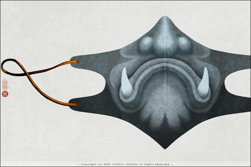 Фото: Дизайнерские марлевые повязки с рисунком