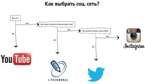 Инструкция по выбору соцсети