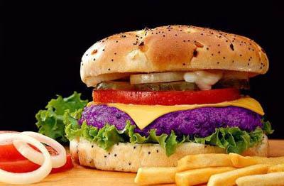 фиолетовый гамбургер