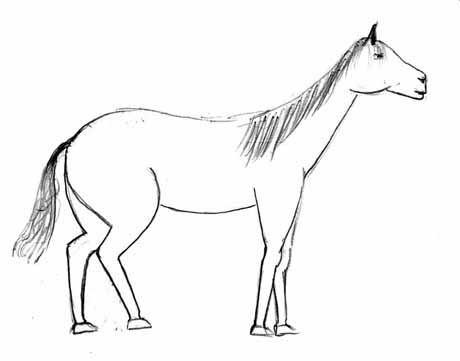 рисунок лошадей смешной