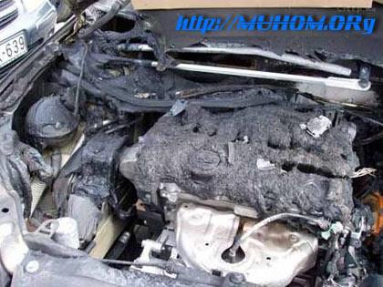 Сгоревший двигатель