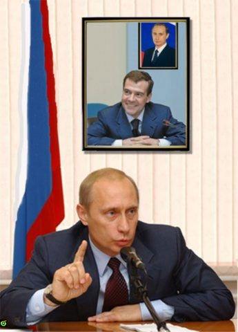 Фотография в кабинете Путина