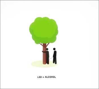 ЛСД + Алкоголь