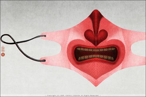 Фото: марлевые повязки с рисунком