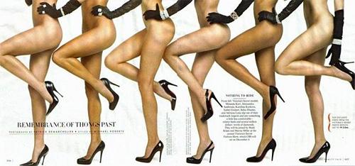 Угадайте, где ноги блондинки