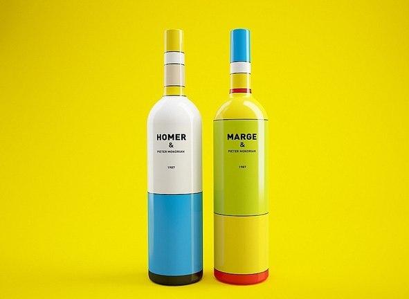 Бутылки Гомер и Мардж Симпсоны